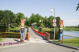 понтонный пешеходный мост. Белоруссия.