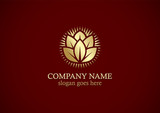gold leaf shine organic logo