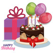 Detaily fotografie happy birthday celebration card vector illustration design