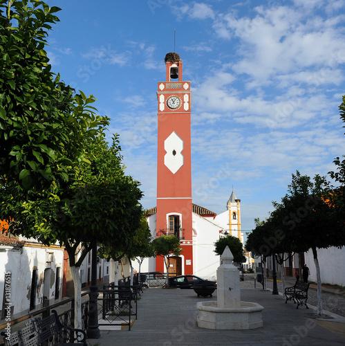 Almadén de la Plata, Torre del Reloj, pueblos de Sevilla, España