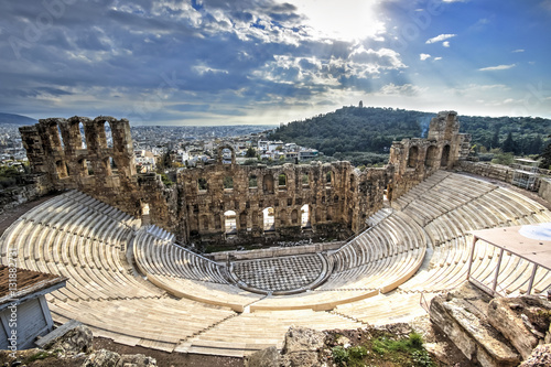 Deurstickers Athene Odeon Theatre in Athens, Greece