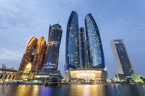 Deurstickers Abu Dhabi Etihad Towers in Abu Dhabi, UAE