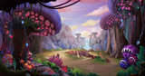 Alien Planet Surface Environment. Video Game