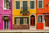 Colorful buildings on the island of Burano which is located in the Venetian lagoon - 131942151