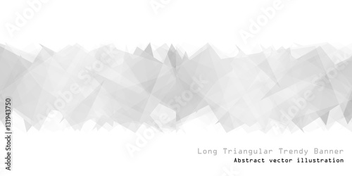 Long triangular trendy banner. Polygonal vector illustration - 131943750