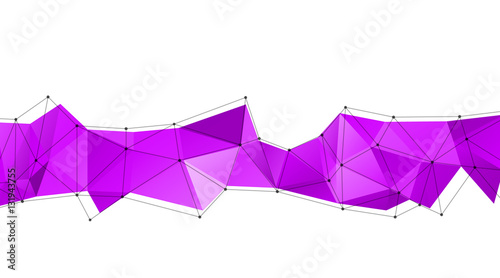 Long triangular trendy banner. Polygonal vector illustration - 131943755