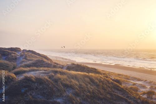 warmer Abend am Meer
