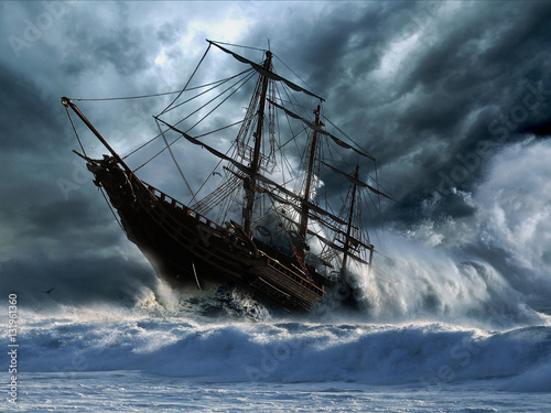 Canvas Schipbreuk Ship Wreck