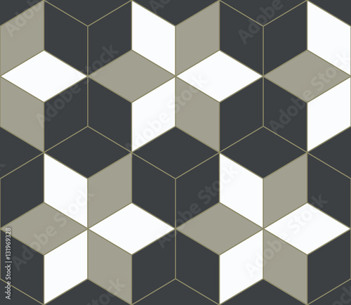 Tapeta Abstract 3D geometrical background, mosaic