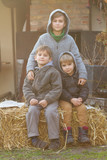 three young brothers
