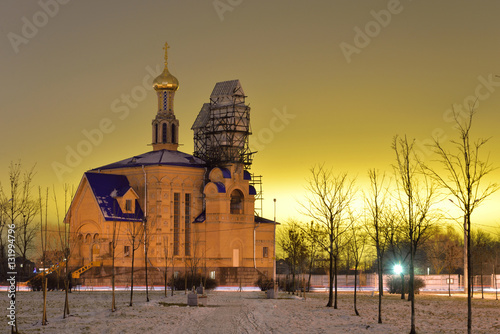 Foto op Canvas Bedehuis Church of the Intercession Holy Virgin,
