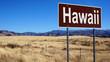 Hawaii brown road sign