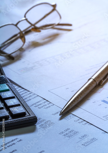 Image of a businessman workplace with papers - 132003946