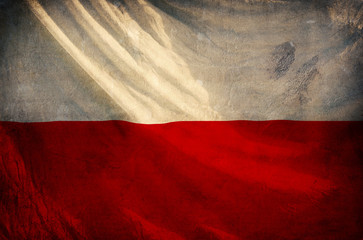 Poland flag ,grunge and retro flag series