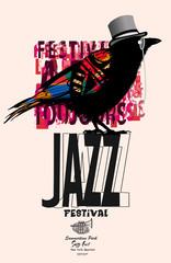 Black raven jazz poster © Isaxar