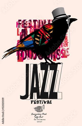 Black raven jazz poster