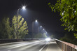 road bridge at night