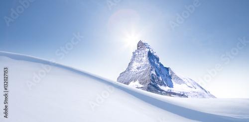 Poster Schneewehe im mit Matterhorn