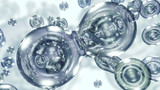 3D rendering liquid transparent bubbles