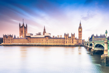 Palace of Westminster at sunrise