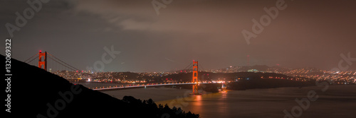 Poster Golden Gate Bridge in San Francisco at Night