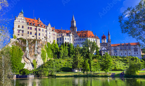 Beautiful places of Gremany - Sigmaringen town with impressive c