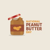 vector design illustration for peanut butter day in january - 132073155