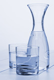 Water Carafe and Two Glasses