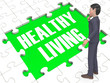 Leinwanddruck Bild - Healthy Living Puzzle Showing Healthy 3d Rendering