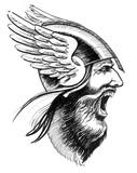 Furious viking