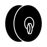 Clash cymbals or orchestral cymbals musical instrument with strap flat icon for music apps and websites