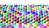 Abstract Hexagon Pyramids Background Loop 3d Render Full HD