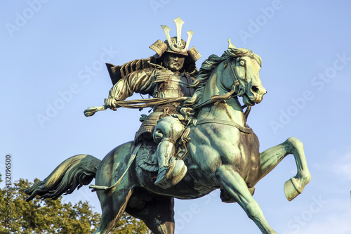 Poster Statue of Kusunogi Masashige in Tokyo