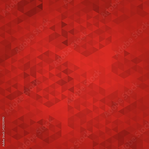 Abstract red mosaic background, Polygonal pattern, Vector illustration