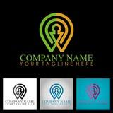 position technology business logo
