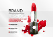 Detaily fotografie Lipstick cosmetic advertising background