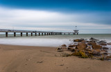 Burgas bridge in the winter