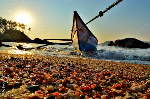 Poster Ракушки на пляже