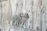 Relief in Persepolis  - ceremonial capital of the Achaemenid Empire in Iran
