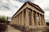 Temple of Hephaestus on Agora in Athens, Greece
