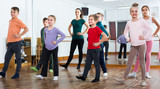 children studying contemp dance