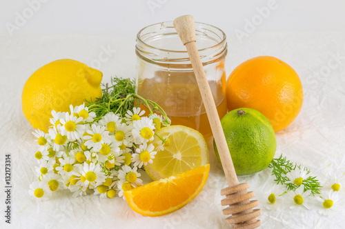 Poster honey lemon lime and chamomile