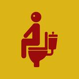 man with diarrhea