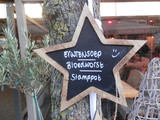 Star shaped menu blackboard