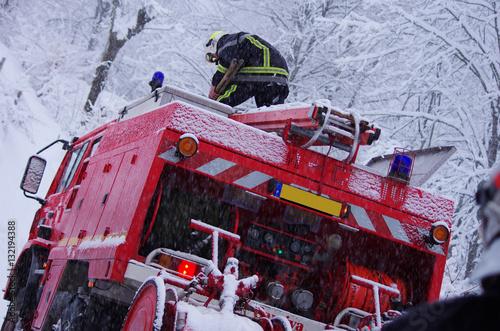 strażacy - interwencja zimowa