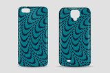 Abstract pattern. Blank phone case. Cover mockup. Vector illustration.
