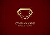 Fototapety diamond abstract gold logo