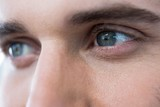 Man with green eyes