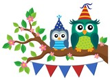 Party owls theme image 4