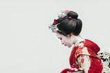 Portret Maiko gejsza w Gion Kyoto